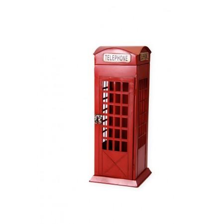 Cabine Téléphonique - métal - H. 42cm