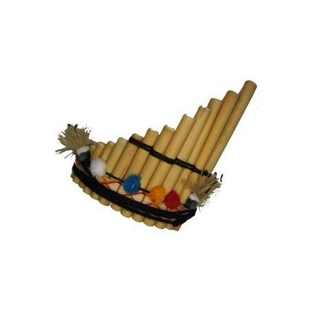 Flute de pan - Bambou - 17 x 20 cm*