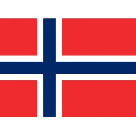 Drapeau Norvège - tissu - 90 x 150 cm