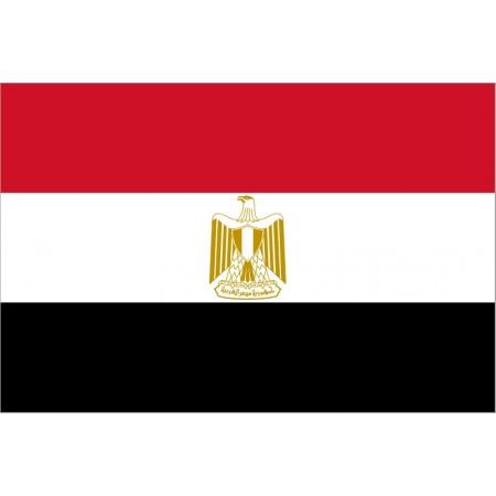 Drapeau Egypte - tissu - 90 x 150 cm