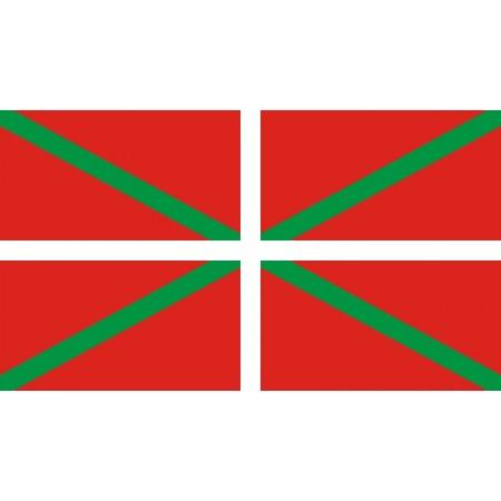 Drapeau armoiries Basque - tissu - 90 x 150 cm