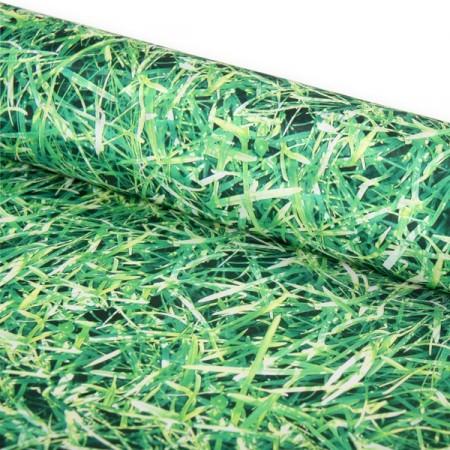 Tissu herbes M1 - Larg. 150 cm   (vendu au mètre)