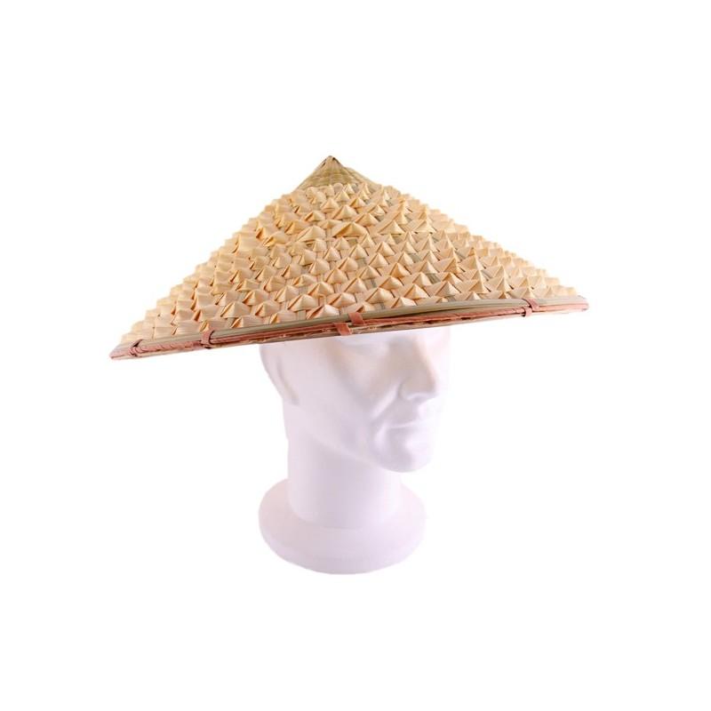 nouvel an chinois  chapeau conique paille taille adulte