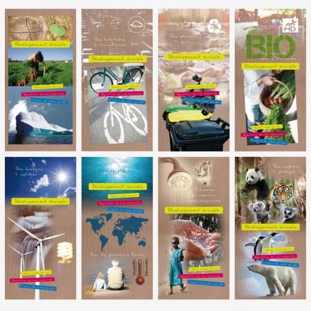 Affiches Développement Durable x 8 - 40 x 70 cm - papier 170 g