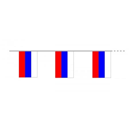 Guirlande  Russie - 10 fanions en pvc - Long 400cm