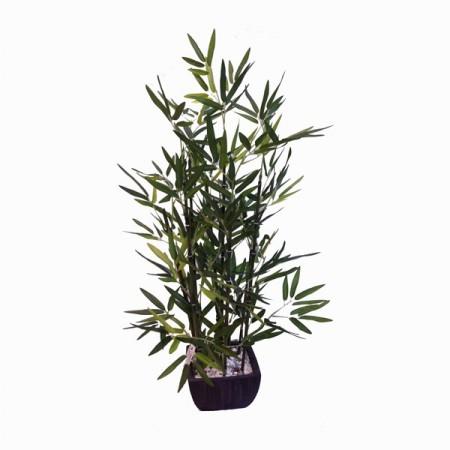 Bambou artificiel en pot haut: 46 cm