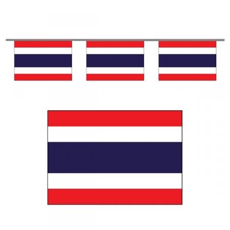 Guirlande Thailande - 10 fanions 21 x 30 cm - papier - Long.470cm