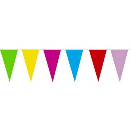 Guirlande Kermesse multicolore - 15 fanions 20 x 29 cm  papier - Long. 4 ml