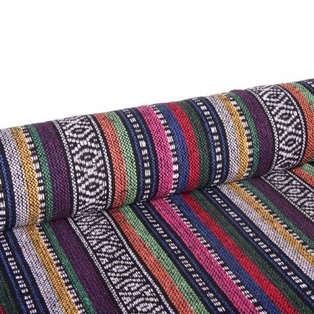 tissu ethnique larg 150 cm le ml d cors du monde. Black Bedroom Furniture Sets. Home Design Ideas