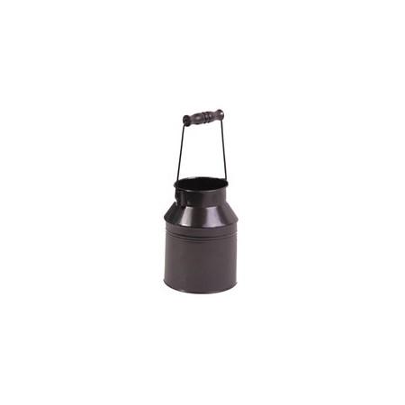 Bidon de lait - zinc - H. 16 cm/ Diam. 12cm
