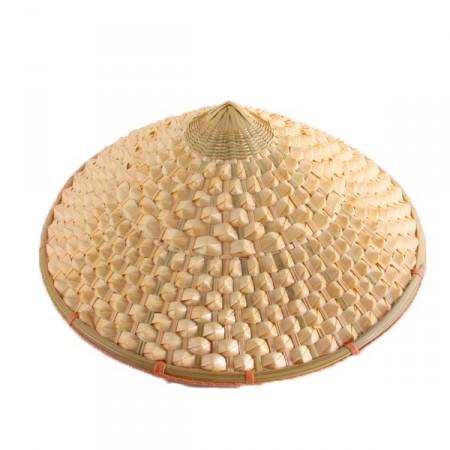 Chapeau chinois  conique - paille - taille adulte
