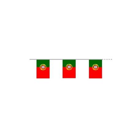 Guirlande Portugal - 10 fanions 21 x 30 cm - plastique - Long.400cm