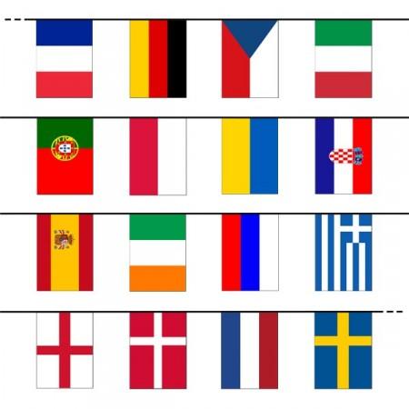 Guirlande 24 pays participants - Tissu -