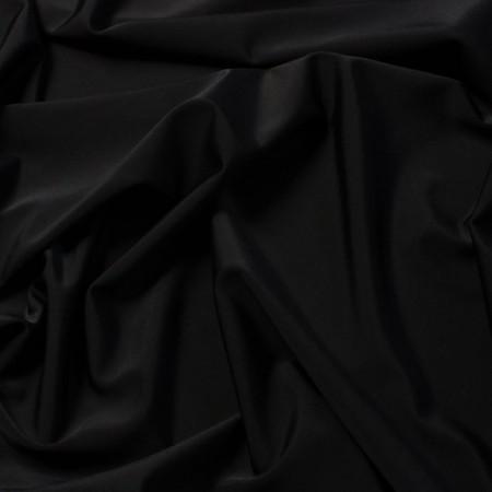 Tissu satin noir larg 150 cm le ml