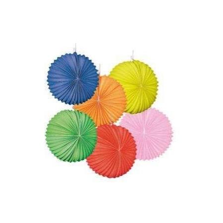 Lampions x 12  ballons uni coloris assortis - en papier - diam 22 cm