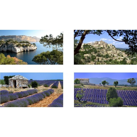 Mobiles Provence X 4 - carton  - 27 x 49 cm