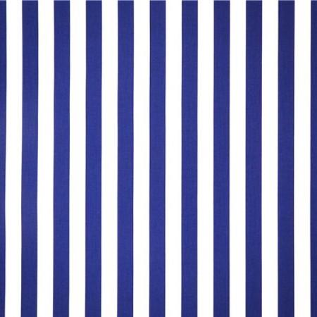 Tissu rayé bleu et blanc - coton  -  larg 140 cm