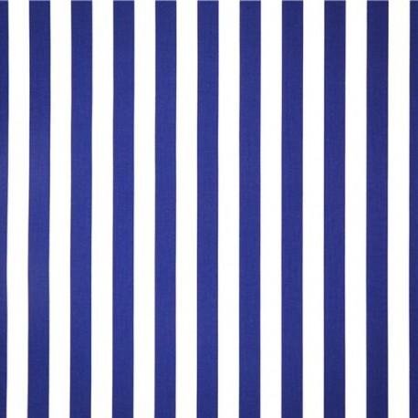 tissu ray bleu et blanc coton larg 140 cm d cors du monde. Black Bedroom Furniture Sets. Home Design Ideas
