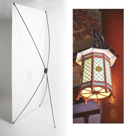 Kakemono lanterne japon - 180 x 80 cm - Toile M1 avec structure  X- Banner