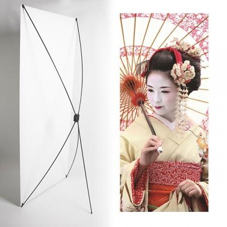 Kakemono Japonaise - 180 x 80 cm - Toile M1 avec structure  X- Banner