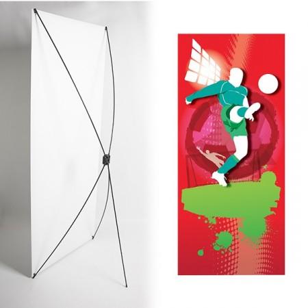 Kakémono FOOT 80 x 180 - Toile M1 / X Banner - Joueur vert