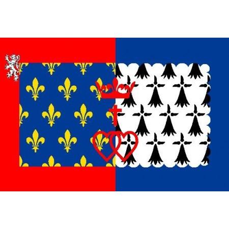 Drapeau Pays de Loire - tissu - 90 x 150cm