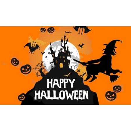 Drapeau Halloween - tissu - 90 x 150cm