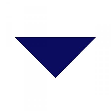 Bandana bleu - tissu - 57 x 57 x 83cm