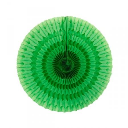 Eventail vert - papier - Diam. 50 cm