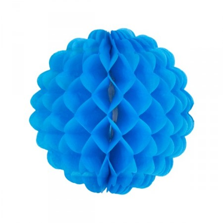 Boule bleu marine - papier - Diam. 32 cm