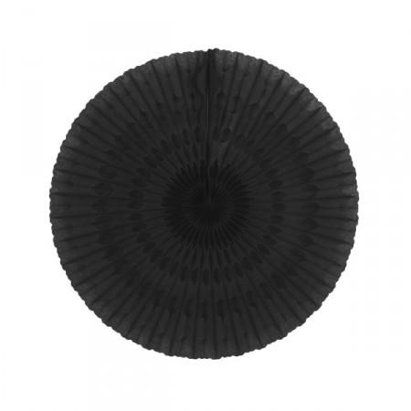 Eventail noir - papier - Diam. 50 cm