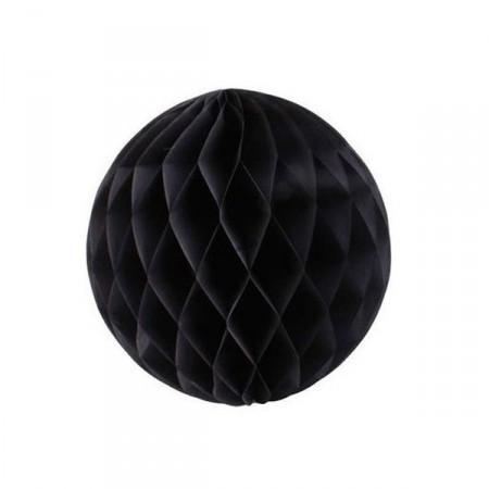 Boule noire - papier - diam 32cm
