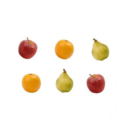Set de 10 fruits (2 Pommes, 2 Poires, 2 Oranges, 2 Raisins verts et 2 violets) -