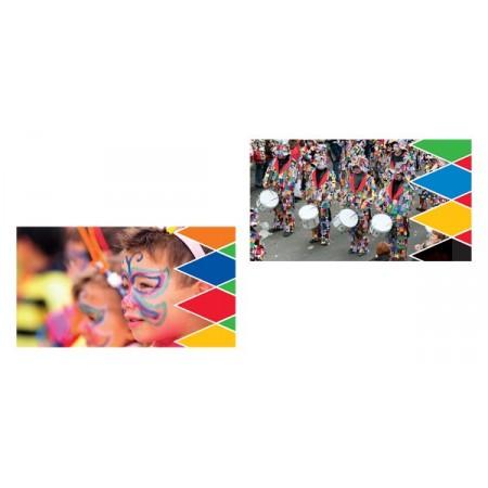 Mobiles Carnaval x 2 - carton - 27 x 49 cm