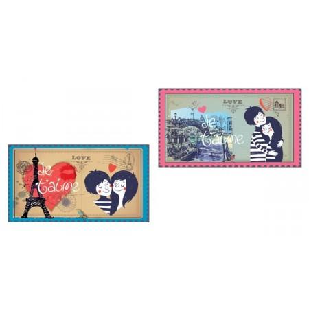 Mobiles St Valentin x 2 - carton - 27 x 49 cm