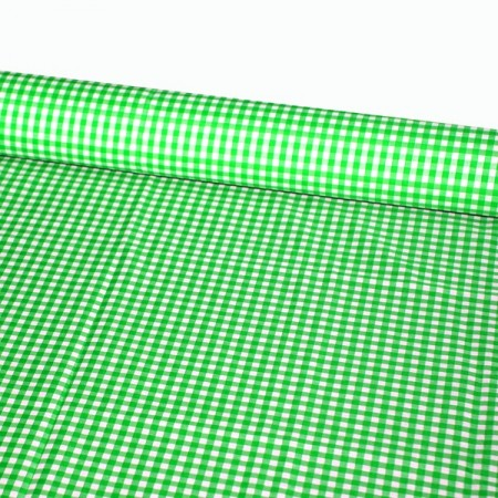 Tissu Vichy vert - Larg. 150cm :  le ml