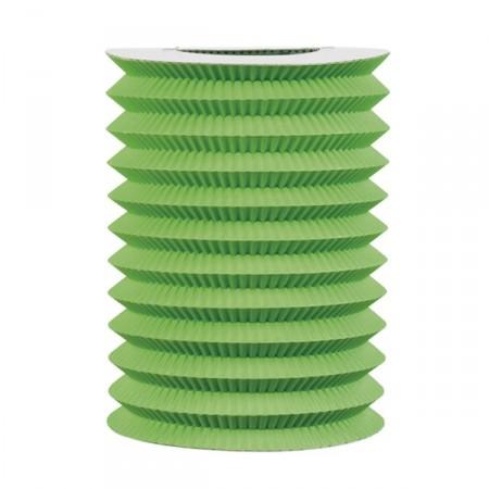 Lampion vert x 6 - papier - 16 cm