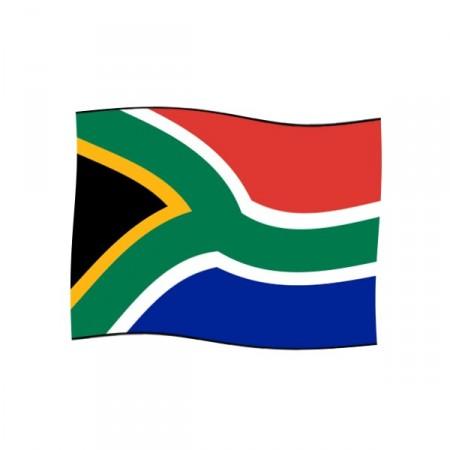 Drapeau Afrique du Sud 60 x 90 cm  - tissu