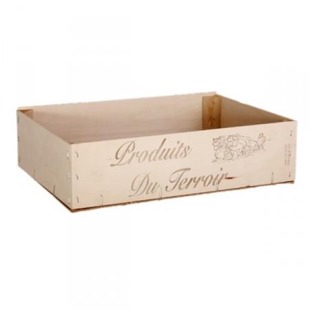 Cagette en bois 40 x 30 x 10 cm *