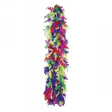 Boa multicolore -  plumes - Long. 180cm