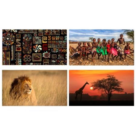 Mobiles Afrique x 4 - carton - 27 x 49 cm