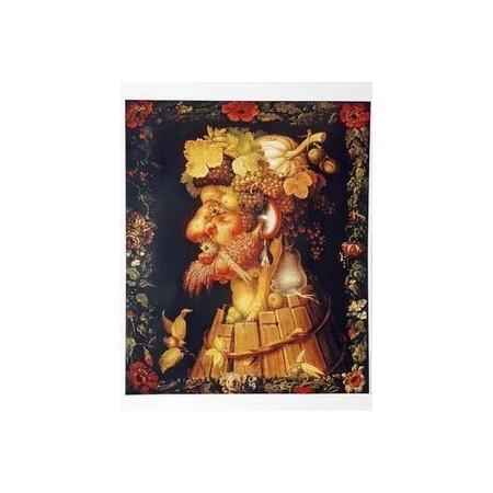 """Affiche """" l'Automne """" d'Arcimboldo - 62 x 84cm"""