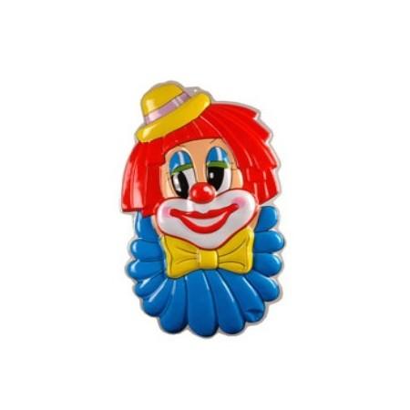 Clown à plat - thermoformé - H. 100cm