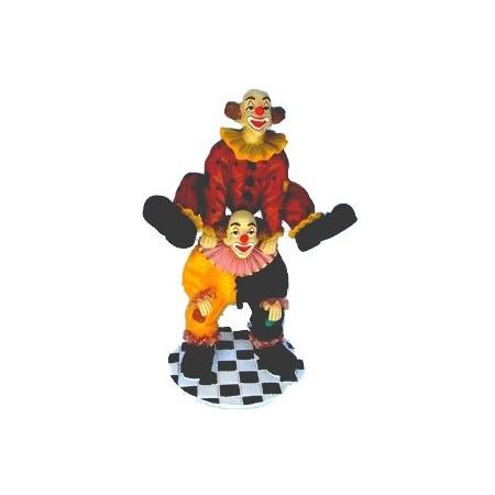 Clown - résine - H. 60 cm*