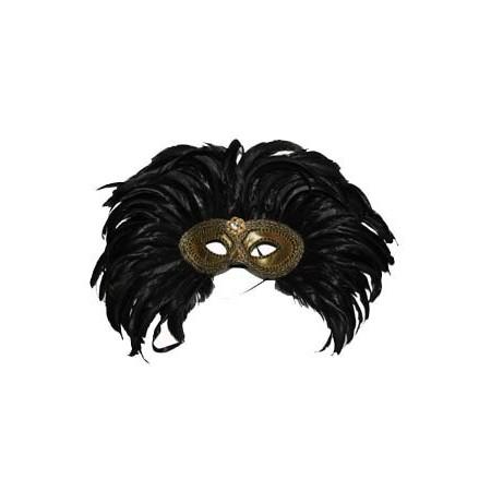 Masque plume noir