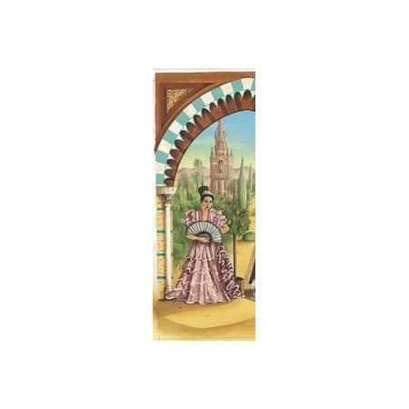 Kakemono  Les Jardins d'Alhambra gauche + support - papier  - 200x85c