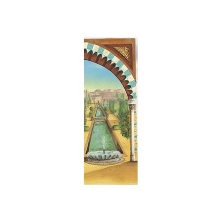 Kakemono Jardins de l'Alhambra droit + Support - papier - 200x85c