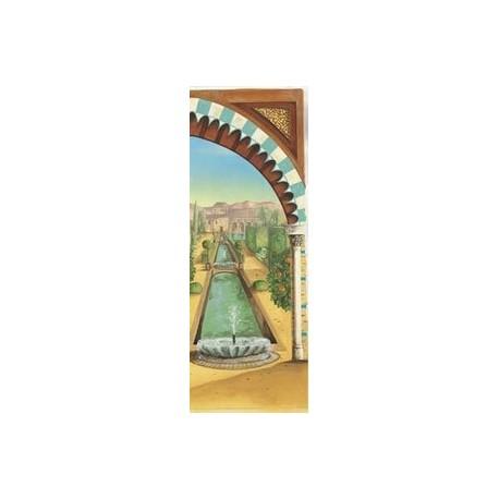"""Kakemono """"Jardins de l'Alhambra"""" droit """"+ Support - papier - 200x85cm"""