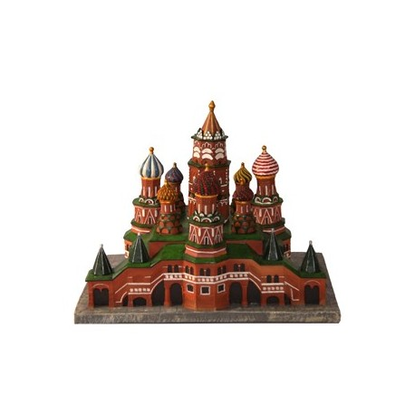 Cathedrale Saint Basile Moscou 3D 68 *46 * 38 resine