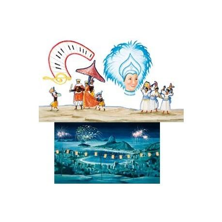 Set de 4 décors Rio - carton